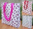 Vintage Style Floral Shopping Tote Bag Reusable Spring Bags Grocery Books