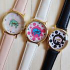 Elephant Print Watches 2015 New PU Leather Women Casual Dressing Watches