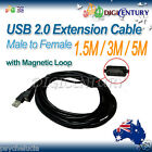 High Quality USB 2.0 A Male To Female Extension Cable Cord 1.5M 3M 5M 10M