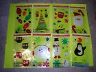NEW ! Holiday Time Window Gel Clings Holiday Decorations Winter Snow Party Time
