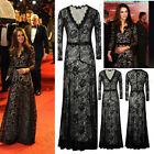 Sale Womens Formal Full Maxi Long Dress Lace Evening Prom Party Dress Cocktail