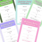 20 x A5 Polkadot Write your own Birthday Party Invites with envs Various Colours