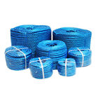 Blue Poly Rope Coil Polypropylene Polyrope Events Gardening Camping Fencing 220m