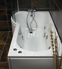 Claire P Shape Showerbath with 6 Jet Whirlpool Jacuzzi Type Spa System + Screen