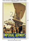 Imperial Airways #2 Vintage Airline Travel Poster [6 sizes, matte+glossy avail]
