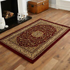 SMALL MEDIUM LARGE EXTRA LARGE RED BEIGE COLOUR ELEGANT TRADITIONAL CLASSIC RUGS