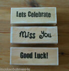 Rubber Stamp - Sentiments for Occations - Good Luck - Celebrations - Cardmaking