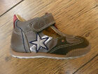 Rondinella Brown Silver Star Open Shoe With Rubber Toe -size 22 - Free P+p