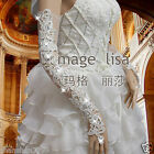 New Arrival Flower lace long fingerless bridal gloves with Sparking rhinestones