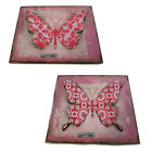 BEAUTIFUL BUTTERFLY STRAITS HOME AND GIFT METAL WALL HANGING - 72241