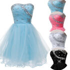Short Prom Dresses Beaded Corset Bridesmaid Homecoming Party Gowns Petite Dress