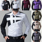 FREE SHIPPING New Mens Slim Fit Long Sleeve Button Down Casual Dress Shirts Tops