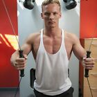 POLYESTER STRINGER VEST - COOL MUSCLE - PLAIN BODYBUILDING, Y BACK - GYM WEAR