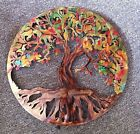 Tree Of Life Metal Wall Art  Tree Of Life LED Back Lit Wall Tree