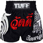 Tuff Muay Thai Boxing Black Shorts 206 Kick Boxing Training Free Shipping