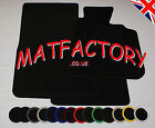 BMW 5 SERIES 4DR SAL/TOUR E60 05-07 black tailored car mats B89 COLOURED BINDING