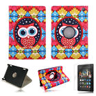Cute Owl 360° PU Stand Flip Case Cover For Amazon Kindle Fire HD 7 2014 4th Gen
