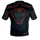 Optimum Origin Rugby Top Black/Red Protection IRB Approved Removable Pads