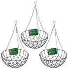 "12"" 14"" and 16"" Green Powder Coated Wire Round Bottom Hanging Baskets"