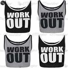 Womens Ladies Work Out Print Sleeveless Strap Short Cami Vest Cropped Lined Top