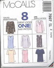 McCall's 7997 Misses' Tops - Sewing Pattern