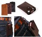 Men's PU Leather Belt Clip Case Holster Carrying Cover Pouch For Mobile Phones