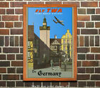 TWA Germany - Vintage Airline Travel Poster