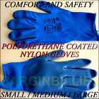12 Pairs Of Brand New Nylon PU Safety Gloves Builders Mechanics laborers Farm