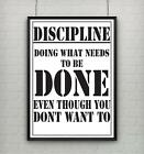 Motivational inspirational quote positive life poster picture print DISCIPLINE