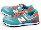 New Balance WL574CPE B Teal Green & Orange & White Retro Suede Casual Shoes NB
