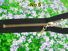 *BLACK ZIP/ METAL BRASS TEETH CLOSED ENDED. No 5 Different Sizes.(80 cm - 15 cm)