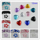 12MM Heart Flatback Rhinestone Acrylic Crystals Scrapbook DIY Crafts Decoration