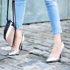 ZARA NEW COLLECTION 2015. LAMINATED HIGH HEEL SILVER COURT SHOES. BLOGGERS.