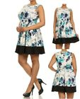 D60 New Womens Sleeveless Party Evening Wedding Cocktail Plus Size Floral Dress
