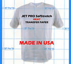 JET PRO SOFSTRETCH INKJET HEAT IRON ON TRANSFER PAPER 8.5 X 11""