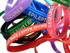 Epilepsy - Epileptic Seizures Patient  Silicone Medical WristBands 2 bands pack