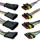 1 2 3 4 5 6Way Car SUV Waterproof Electrical Connector Plug With Wire AWG Marine