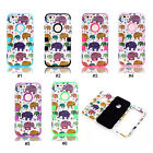 Cute Elephants 3 in 1 Hybrid PC Silicone Back Case Cover Skin For 4.7'' iPhone 6
