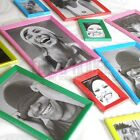 Magnetic or Free Standing bright photo frame fridge magnets colours bevelled