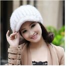90277 new women 100%real knitted mink fur 6 color winter warm hat/caps