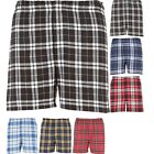 Mens 100% Cotton Button Fly Classic Flannel Boxer Shorts Underwear Loose