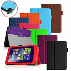 For ASUS VivoTab Note 8 M80TA Windows 8.1 Tablet Folio Leather Stand Case Cover