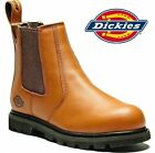 MENS DICKIES DEALER CHELSEA ANKLE STEEL TOE CAP SAFETY SHOE PULL ON BOOTS S 5-12