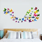 12pcs 3D Butterfly Wall Art Decal Stickers Magnet Home Decoration PVC Mural Shop