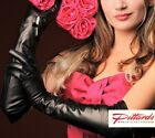 !BRAND NEW! Black Long Leather Opera Gloves! NEW! 623d