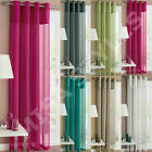 RIO PLAIN VOILE NET LINEN LIKE LOOK EYELET RING TOP CURTAIN PANEL ~ MANY COLOURS