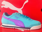 PUMA ROMA SL NBK2-Womens Casual New Shoes-Blue/Fluo Purple/Turbulence-355494 01