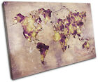 Watercolour  Abstract Maps Flags SINGLE CANVAS WALL ART Picture Print VA
