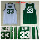 NWT Larry Bird #33 Boston Celtics Jersey Stiched, White/Green Rev30 Mesh  S-2XL