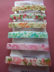 Very Pretty Slim Floral French Barrette Hair Clip Pick your colour